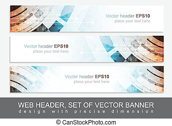 Web header or banner for your project, vector illustration -...
