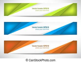 Web header or banner
