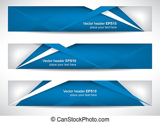 Web header or banner with precise dimension, can be used for your website presentation, vector illustration.