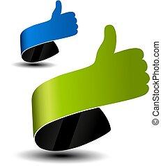 web het winkelen, zakenbeelden, hand., markeringen, symbool., labels., keuze, vector, best, advertentie, wijzer, gebaar
