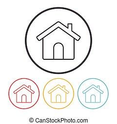 web home line icon