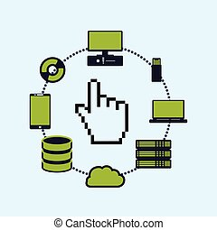 Web hosting cursor design