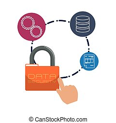 Web hosting padlock design