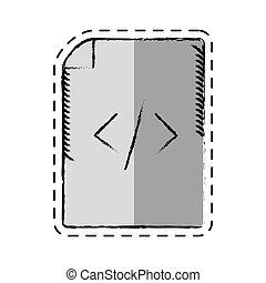 web, html, kodierung, karikatur, seite