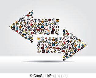 web icon arrow card