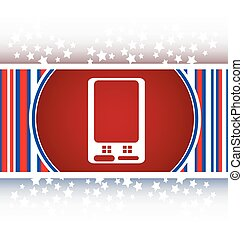 web icon button with smart phone vector