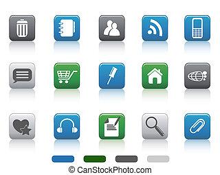 web icon -color square series