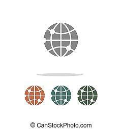 web icon isolated on white background