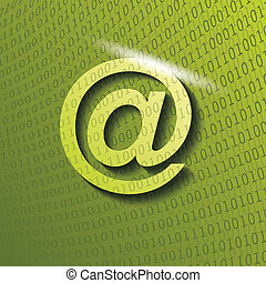 web icon on green background