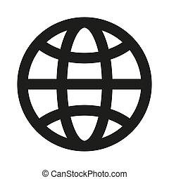 Web icon on white background.