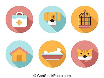 Web icon set Pet, Vet, Pet Shop