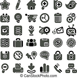 Web icon set - Retro styled web icon set