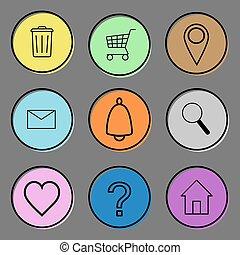Web icon set. Vector illustration