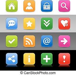 Web icon set with basic sign