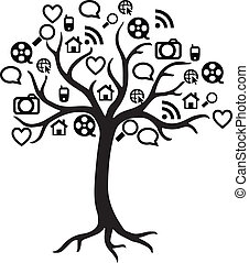 Web Icon Tree Vector