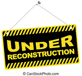 Web Icon -Under Reconstruction Sign Isolated on White