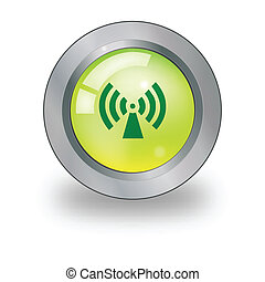 Web icon with antenna sign over but