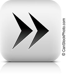 Web icon with arrow sign