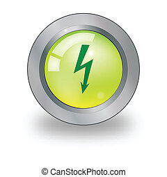 Web icon with electricity sign over