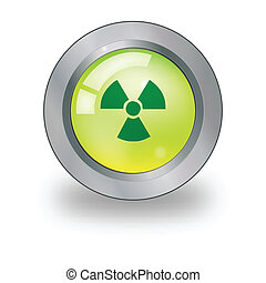 Web icon with radiation sign over b