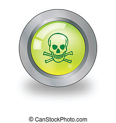 Web icon with sign over button