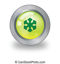 Web icon with snow sign over button