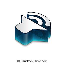web, icona, altoparlante, disegno