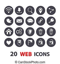 web, iconen