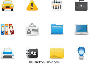 Web icons and symbols - Icons for website or printed...