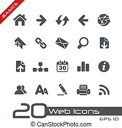 Web Icons // Basics - Vector icons for your web or printing...