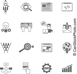 Web Icons Black Set