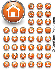 Web icons, buttons - Set of 40 different vector web icons ...