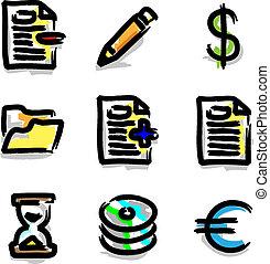 Web icons colour contour various - web icons marker colour...