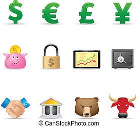 Web Icons - Finance - Finance icon set.