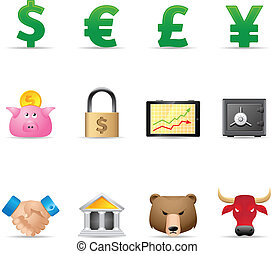 Web Icons - Finance - Finance icon set.