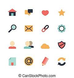 Web Icons Flat