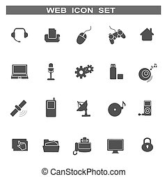 Web icons for business and communication