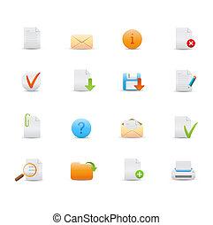 web icons - illustration - set of elegant simple icons for ...