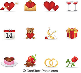 Web Icons - Love - Valentine related items icon set. EPS 10...