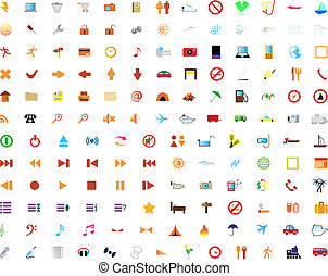 New collection of different icons for using in web design