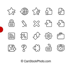Web Icons // Red Point Series