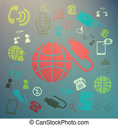 web icons Retina Vector  color