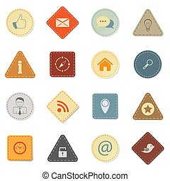 Web icons, retro style