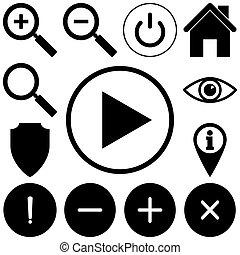 Web icons set. Flat style vector illustration