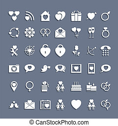 Web Icons Set in Flat Design