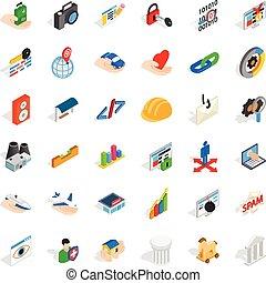 Web icons set, isometric style
