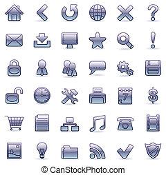 Web icons.