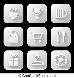 Web icons set. Vector illustration.