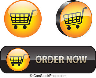 Stylish ecommerce buttonicon set for web applications Vector illustration