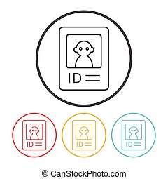 web ID line icon